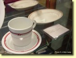 Vintage PRR China: Fine China such as this was once served in first-class dining accommodations on many passenger trains.