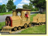 Kids' Area: Kids love to play on this wooden train!